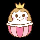 お姫様イースターエッグのフリーイラスト Clip art of easter-egg princess