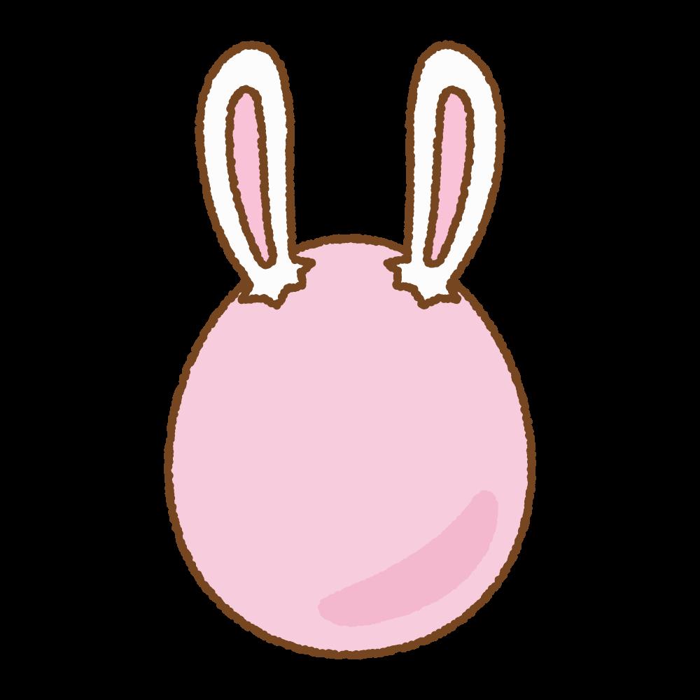 ピンクうさ耳タマゴのフリーイラスト Clip art of rabbit-ears-egg