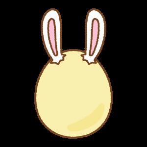黄色いうさ耳タマゴのフリーイラスト Clip art pf yellow rabbit-ear egg