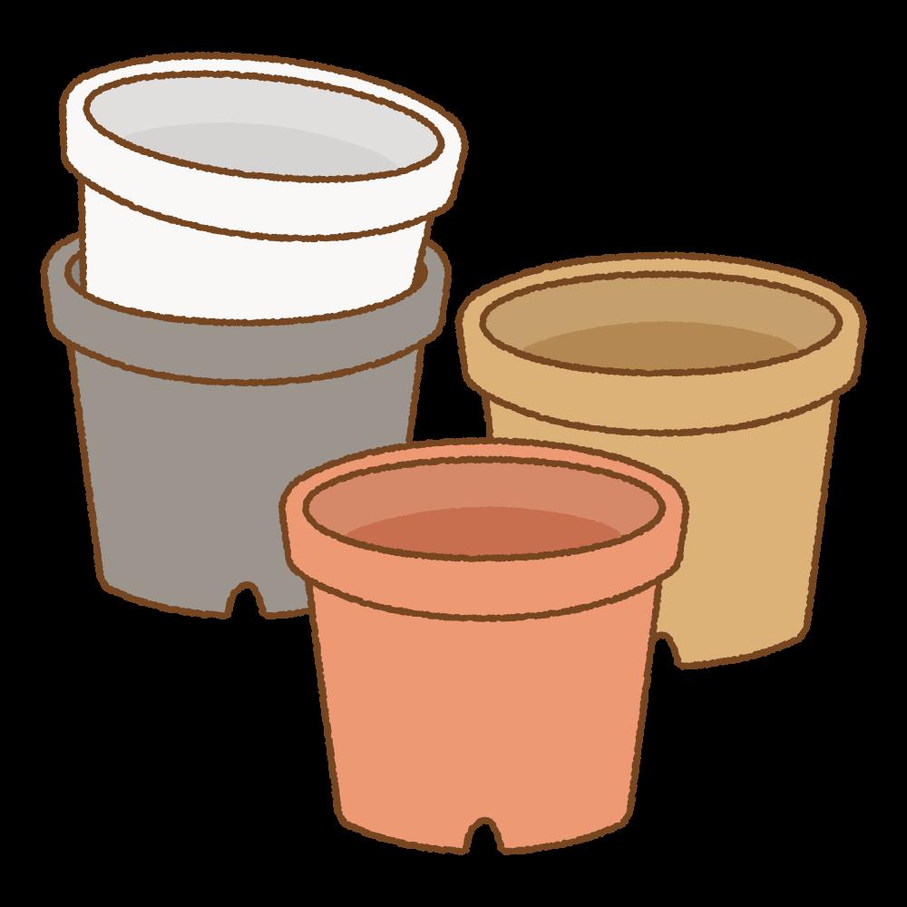植木鉢のフリーイラスト Clip art of flower-pot