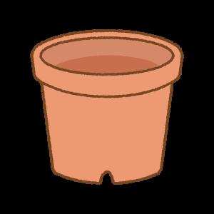 赤い植木鉢のフリーイラスト Clip art of red flower-pot