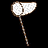 虫取り網のフリーイラスト Clip art of insect net