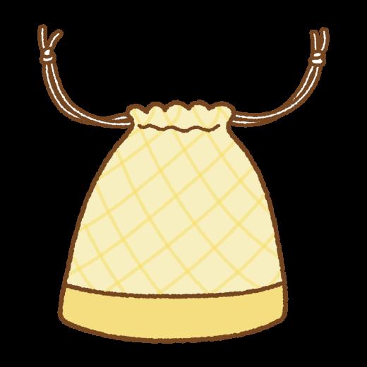 巾着袋のイラスト