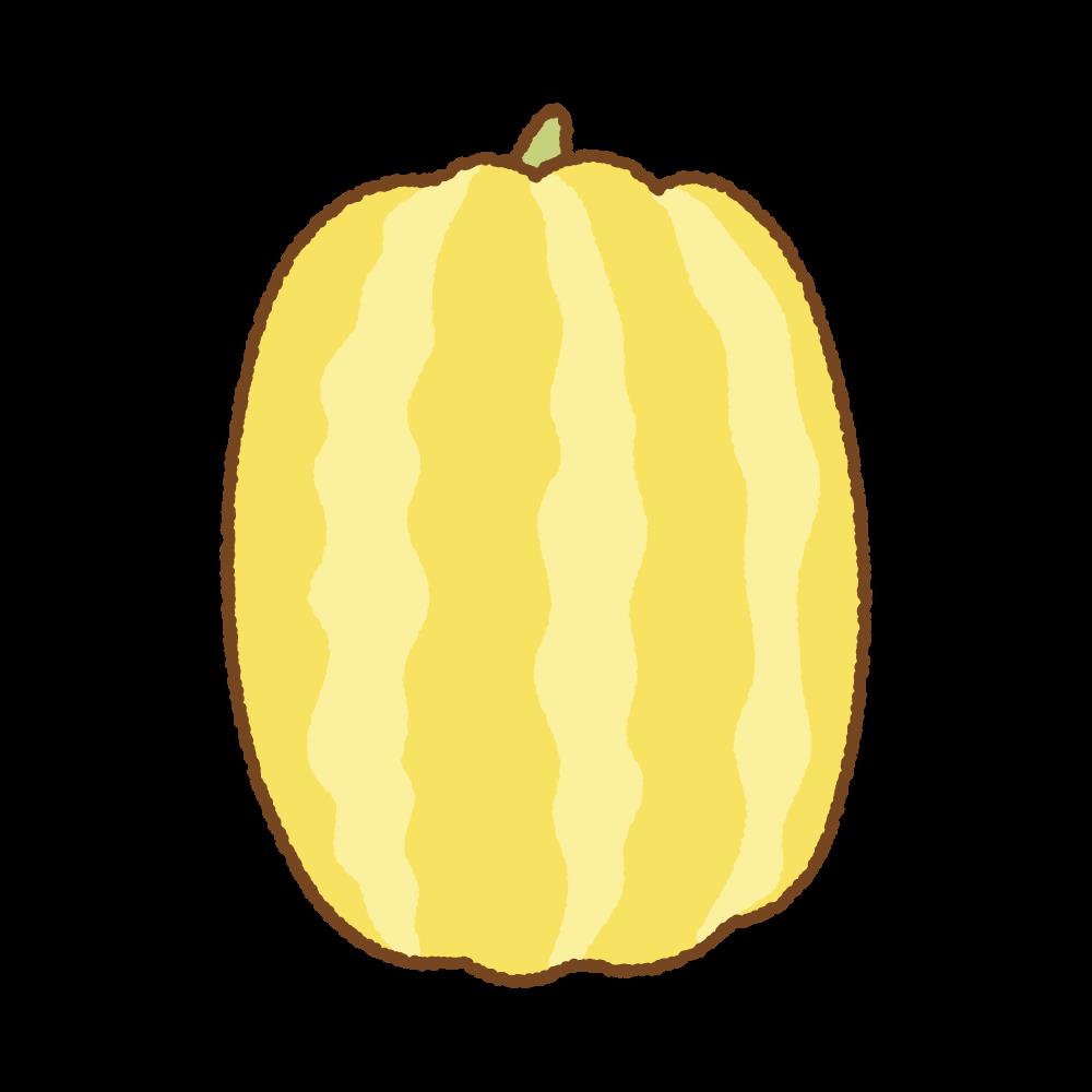 マクワウリのフリーイラスト Clip art of oriental melon