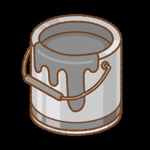 黒のペンキ缶のフリーイラスト Clip art of black paint can