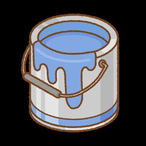 青いペンキ缶のフリーイラスト Clip art of blue paint can