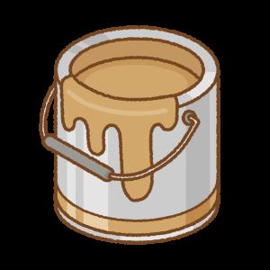 茶色のペンキ缶のフリーイラスト Clip art of brown paint can