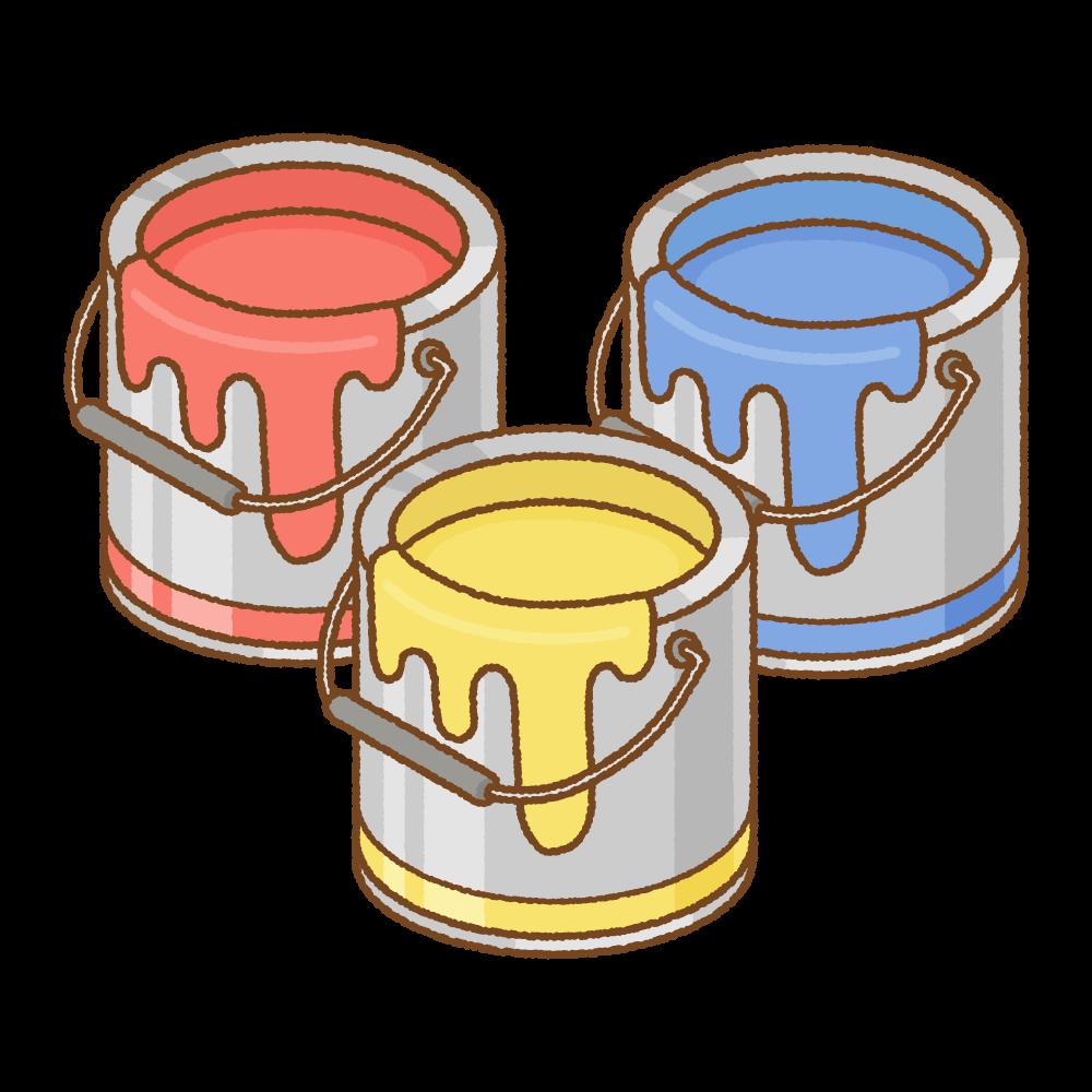 ペンキ缶のフリーイラスト Clip art of paint can