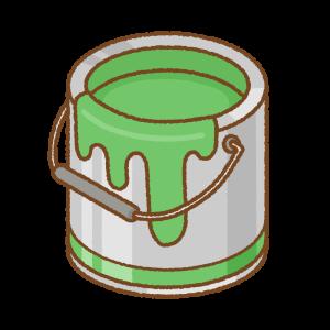 緑のペンキ缶のフリーイラスト Clip art of green paint can