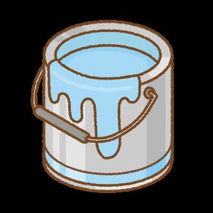 水色のペンキ缶のフリーイラスト Clip art of light-blue paint can