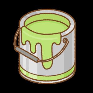 黄緑のペンキ缶のフリーイラスト Clip art of light-green paint can