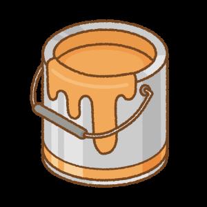 オレンジのペンキ缶のフリーイラスト Clip art of orange paint can