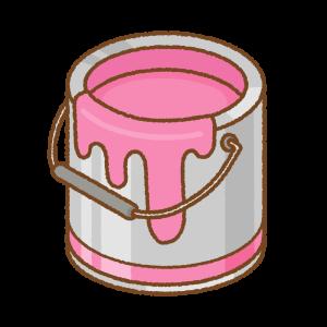 ピンクのペンキ缶のフリーイラスト Clip art of pink paint can