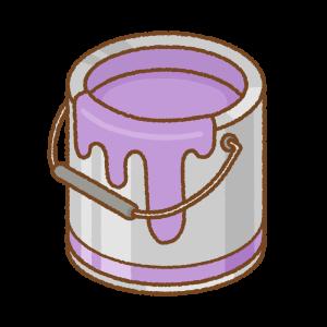 紫のペンキ缶のフリーイラスト Clip art of orange purple can