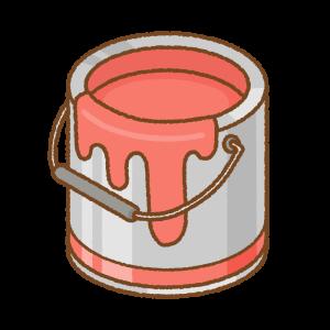 赤いペンキ缶のフリーイラスト Clip art of red paint can