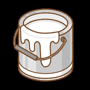白いペンキ缶のフリーイラスト Clip art of white paint can