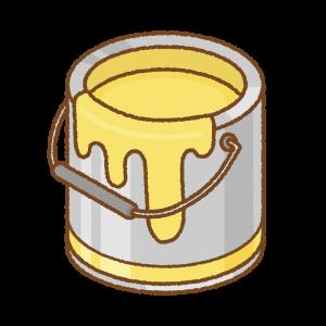 黄色いペンキ缶のフリーイラスト Clip art of yellow paint can