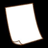 白い紙のイラスト