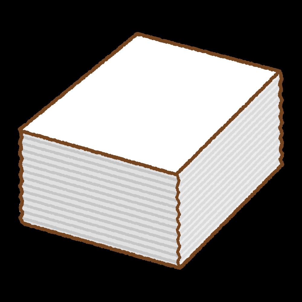 白い紙の束のフリーイラスト Clip art of paper