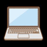 ノートパソコンのフリーイラスト Clip art of laptop-pc