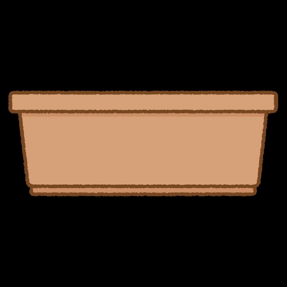 プランターのフリーイラスト Clip art of brown planter