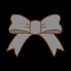 黒いリボンのフリーイラスト Clip art of black ribbon