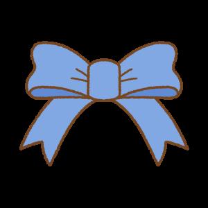 青いリボンのフリーイラスト Clip art of blue ribbon