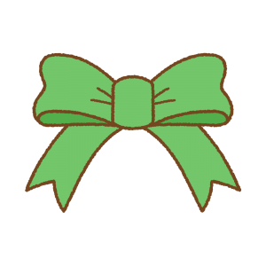 緑のフリーイラスト Clip art of green ribbon