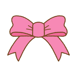 ピンクのリボンのフリーラスト Clip art of rink ribbon