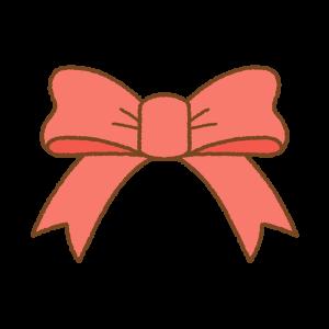 赤いリボンのフリーイラスト Clip art of red ribbon