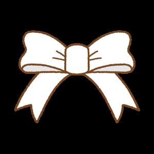 白いリボンのフリーイラスト Clip art of white ribbon