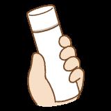 小さい水筒のフリーイラスト Clip art of small thermos