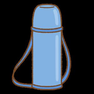 青い水筒のフリーイラスト Clip art of blue thermos