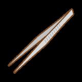 ピンセットのフリーイラスト Clip art of tweezers