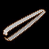 毛抜きのフリーイラスト Clip art of tweezers