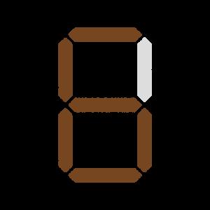 7セグメントナンバーのフリーイラスト Clip art of 7-segment-numbers