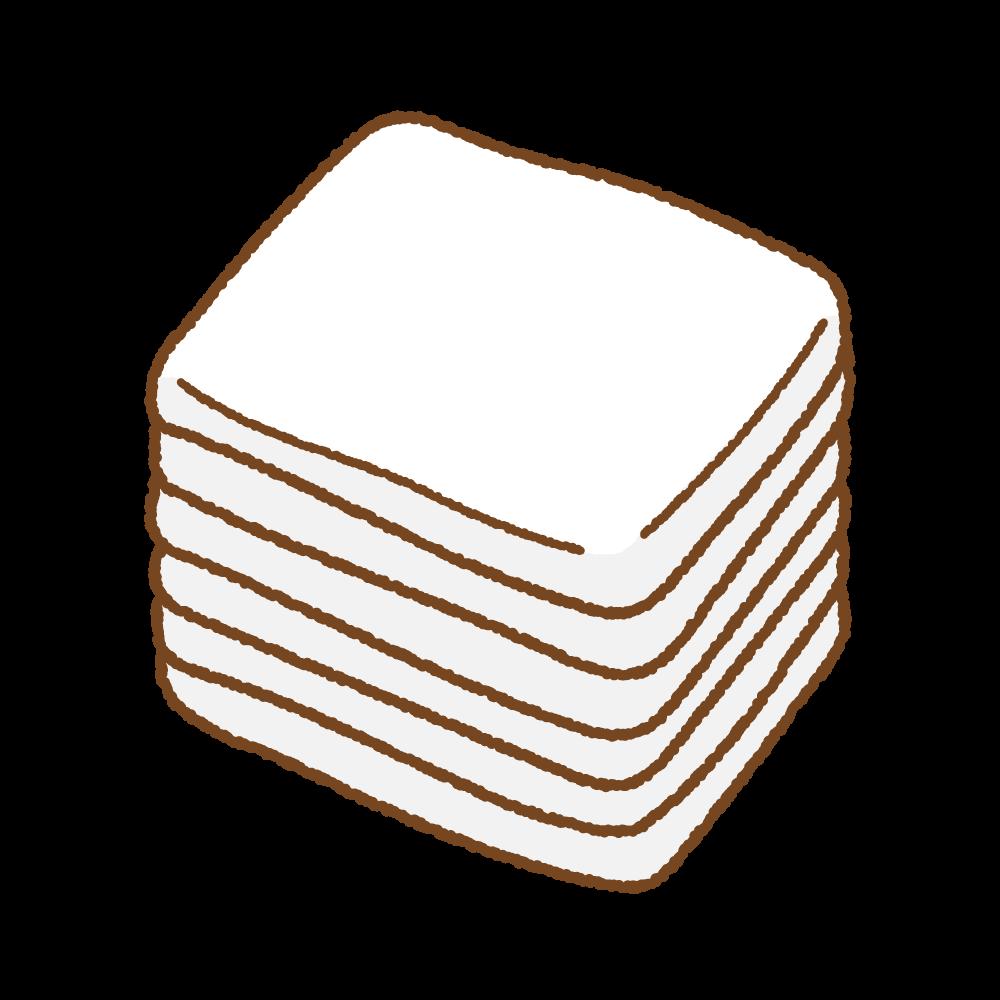 脱脂綿のフリーイラスト Clip art of absorbent cotton