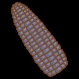 黒いトウモロコシのフリーイラスト Clip art of black corn