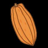 カカオのフリーイラスト Clip art of cacao