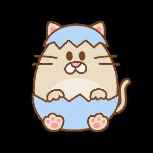 猫のイースターエッグ Clip art of cat easter egg