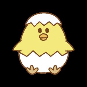 ヒヨコのイースターエッグのフリーイラスト Clip art of chick easter egg