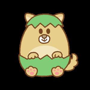 犬のイースターエッグのイラスト Clip art of dog easter egg