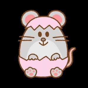 ネズミのイースターエッグのフリーイラスト Clip art of mouse easter egg