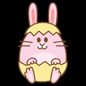 ウサギのイースターエッグのフリーイラスト Clip art of rabbit easter egg