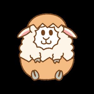 羊のイースターエッグのフリーイラスト Clip art of sheep easter egg