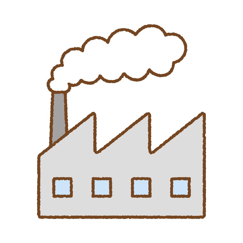 白煙を出す工場のフリーイラスト Clip art of factoy smoke