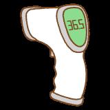 非接触型体温計のフリーイラスト Clip art of non contact thermometer
