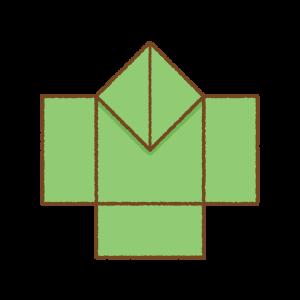 やっこさんの折り紙のフリーイラスト Clip art of yakko-san origami