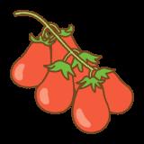 ペアートマトのフリーイラスト Clip art of pear tomato