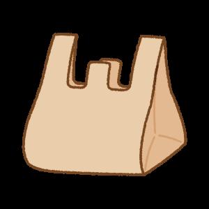 レジ袋のフリーイラスト Clip art of plastic bag